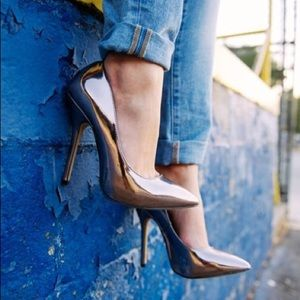 Darrt pewter metallic Steve Madden pumps